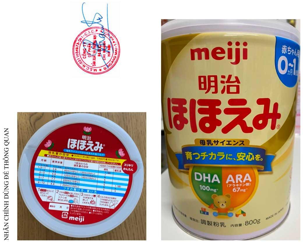 Sữa Meiji số 0 Hohoemi Milk (0-1 tuổi), hàng nội địa Nhật (hộp thiếc 800g)
